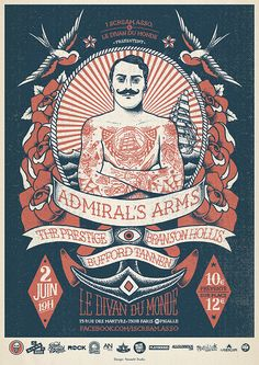 GIG Posters by Yeaaah! Studio , via Behance