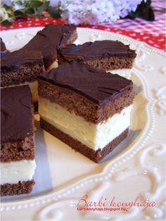 Kinder szelet - nagy adag, de kell is, mert nagyon finom. Hungarian Recipes, Food Cakes, Winter Food, Creative Food, Cookie Bars, Coffee Cake, Cake Cookies, No Bake Cake, Cookie Recipes