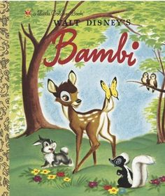 Little Golden Books. My oldest son, born in 1972, loved the Bambi story. He had an audio version on an LP and would listen to it over and over.