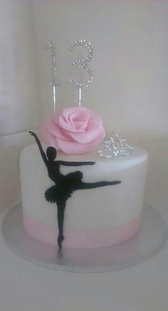 ballerina silhouette cake - For all your cake decorating supplies, please visit craftcompany.co.uk