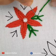 Hand Embroidery Patterns Flowers, Basic Embroidery Stitches, Hand Embroidery Videos, Embroidery Stitches Tutorial, Creative Embroidery, Simple Embroidery, Hand Embroidery Designs, Crewel Embroidery, Crafts