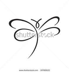Butterfly sign Branding Identity Corporate logo design template Isolated on a white background