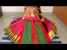 New style varalakshmi silk saree draping Drape Sarees, Silk Sarees, Lakshmi Sarees, Decoration For Ganpati, Durga Maa, Peacock Design, Rangoli Designs, Ceiling Design, Gift Baskets