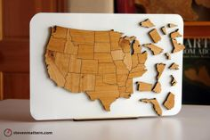 USA Map Puzzle  Alder by StevenMatternDesign on Etsy, $110.00