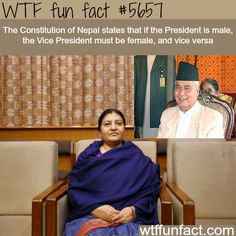 Nepal's president - WTF fun fact