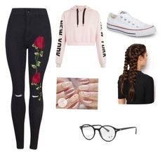 """Casual outfit"" by explorer-15154579402 on Polyvore featuring moda, Converse, LullaBellz, Cirque Colors y Ray-Ban"