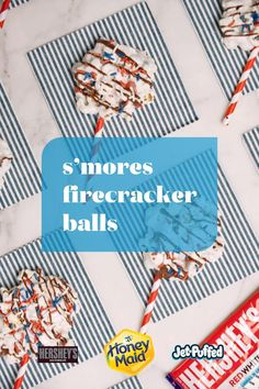 Keep the parties popping with some firecracker ball S'mores. Be sure to have Hershey's, Jet-Puff Marshmallows and those Honey Maid Crackers ready. Find out how to make these explosive treats at pinterest.com/SmoresSaturday. Yummy Treats, Delicious Desserts, Sweet Treats, Dessert Recipes, Yummy Food, Holiday Treats, Holiday Recipes, How Sweet Eats, Kids Meals