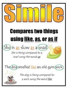 ... similes worksheet 3rd grade | Simile poster.pdf - Google Drive More