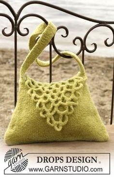 Gefilzte Tasche mit gehäkelter Klappe ~ DROPS Design