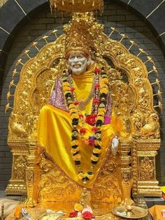 """One of his most famed sayings was """"God is the Owner of us All"""". Take a look at most stunning Shirdi Sai Baba Images in HD here. Shri Ram Wallpaper, Sai Baba Hd Wallpaper, Images Wallpaper, Hanuman Images, Lakshmi Images, Hanuman Photos, Ganesh Images, Sai Baba Pictures, God Pictures"""