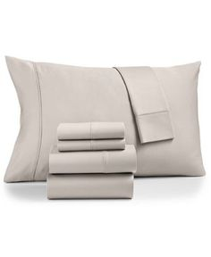 Last Act! Aq Textiles Cotton Sateen 500-Thread Count 6-Pc. Queen Sheet Set - Gray