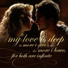 One of my all time favorite movies.Shakespeare in Love William Shakespeare, Famous Shakespeare Quotes, Shakespeare In Love, Famous Quotes, Perfect Kiss, Love Kiss, Love Quotes Facebook, Hamlet Quotes, Joseph Fiennes