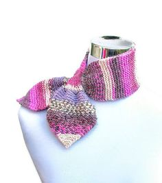 Knit neck warmer ascot bowtie scarf 50s style retro by jarg0n, £20.00