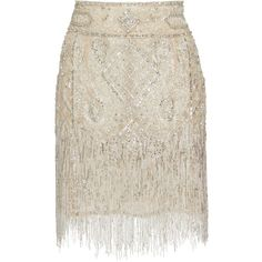 Beaded Mini Skirt | Moda Operandi ($1,155) ❤ liked on Polyvore featuring skirts, mini skirts, dundas, mini pencil skirt, beaded mini skirt, fitted pencil skirt, short white skirt and pencil skirts