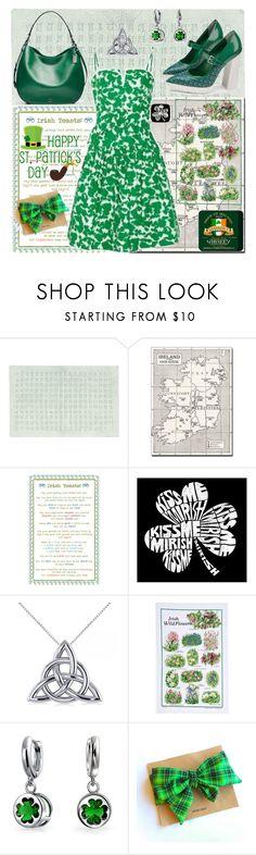 """Irish green"" by dorinela-hamamci ❤ liked on Polyvore featuring Trademark Fine Art, Ulster Weavers, Los Angeles Pop Art, Allurez and Bling Jewelry"