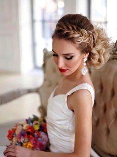 braided wedding hairstyle for long hair - Deer Pearl Flowers