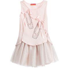 Kate Mack & Biscotti Girls 'Twinkle Toes' Pink Top & Glitter Skirt  at Childrensalon.com