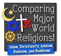 Comparing Major World Religions! Islam Christianity Judaism Hinduism & Buddhism!