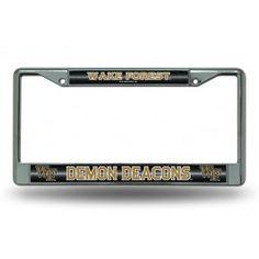 Wake Forest Demon Deacons Bling Chrome License Plate Frame