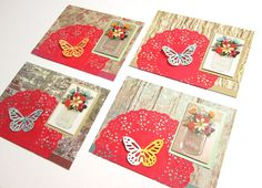 Note Cards  Set of 4 Country Roads Mason by PrettyPaperGreetings