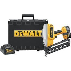 Nail and Staple Guns 122828: Dewalt 16-Gauge 2-1 2 18V Angled Finish Nailer Kit Dc618k New -> BUY IT NOW ONLY: $349 on eBay!