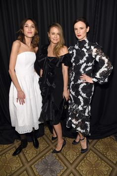 Alexa Chung, Alicia Silverstone and Juliette Lewis attend the Christian Siriano show during, New York Fashion Week: The Shows at The Plaza Hotel on February 11, 2017 in New York City.