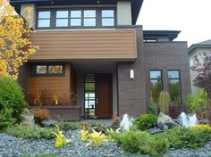 Modern Brick Home - modern - exterior - edmonton - Cast Supply Inc.  I like this, all the colours and material