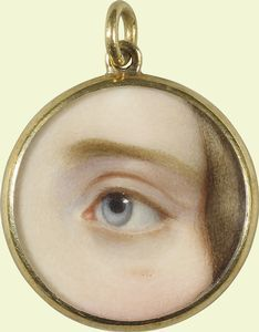 Eye of a lady - 1845 Eye Jewelry, Stone Jewelry, Jewelry Art, Vintage Jewelry, Jewelry Design, Memento Mori, Lovers Eyes, Miniature Portraits, Mourning Jewelry