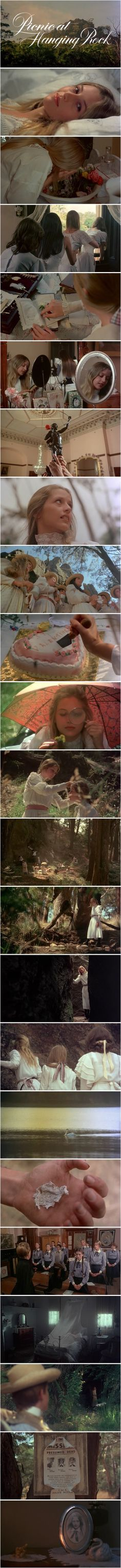 Picnic at hanging rock. I loved this movie. And hanging rock looks exactly the same in real life. Super spooky but amazing.