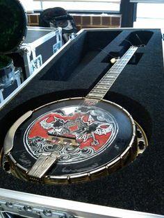 Scott Avett's banjo head I would kill for this banjo