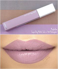 eyeliner – Great Make Up Ideas Gloss Lipstick, Lipstick Shades, Makeup Lipstick, Lipsticks, Maybelline Matte Ink, Superstay Maybelline, Love My Makeup, Makeup To Buy, Makeup Artist Website