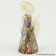 Murano Glass Millefiori Angel #MuranoGlass #Angel #Christmas