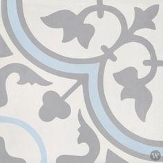 Bati Orient Cement Tile Decor Classic x - Off White/Dark Grey/Blue Mandala Azul, Blue Mosaic Tile, Flooring Sale, Tile Flooring, Concrete Tiles, Cement Tile Backsplash, Decorative Tile, Blue Grey, Dark Grey