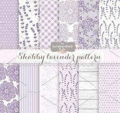 Shabby lavender pattern by burlapandlace on @creativemarket