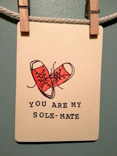 Love card Anniversary card Soul mate sole by LongLiveSnailMail, $3.50