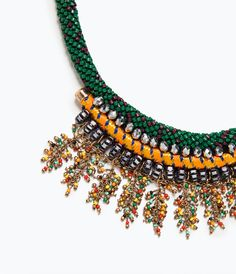 COLORED STONE NECKLACE-Jewellery-Accessories-WOMAN | ZARA United States