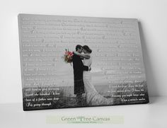 Excited to share the latest addition to my shop: White and Black Photo on Canvas, Wedding lyrics framed, Anniversary day gift First Dance Lyrics, Picture with Wedding Vows, Gift for husband Wedding Songs, Wedding Gifts, Wedding Ideas, First Dance Lyrics, Wedding Canvas, Custom Canvas Prints, 1st Anniversary Gifts, Dance Pictures, Parent Gifts