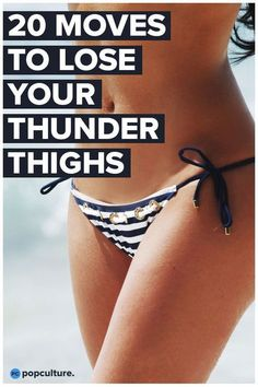 20 Hot Moves For Sexy Thighs. Get rid of jiggly, thunder thighs with these 20 thigh exercises for women that can be done at home. Get slimmer, toned thighs in no time! Fitness Hacks, Fitness Workouts, Cardio Workout At Home, Butt Workout, Easy Workouts, At Home Workouts, Workout Routines, Fitness Gear, Thigh Slimmer Workout