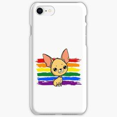 """""""Rainbow Chihuahua """" iPhone Case & Cover by jakezbontar 