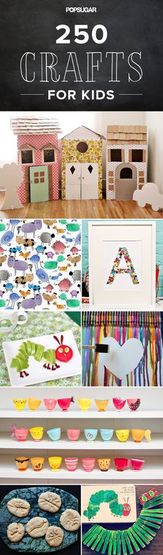 250 Easy, Fun Ways to Get Crafty With Your Kids! Don't worry about not making it to the bottom of the list, the top is where the most used ideas seem to be