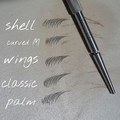 Permanent makeup Hairstroke styles