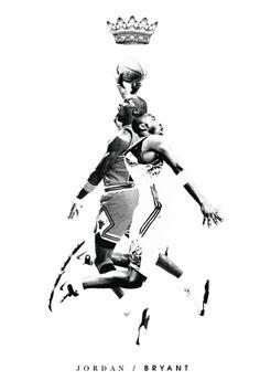 Michael Jordan x Kobe Bryant Mash Up Art