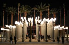 Chris burdens urban light sculpture of 202 restored streetlights at los angeles county museum of art large scale sculptural urban light installation a sculpture by chris burden mozeypictures Images