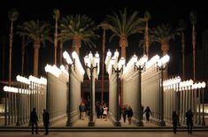 Chris burdens urban light sculpture of 202 restored streetlights los angeles county museum of art large scale sculptural urban light installation a sculpture by chris burden aloadofball Gallery