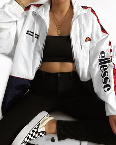 Ellesse uk on some outfit inspo in the pampino from lizzymclovin ellesse ootd ootdpost ootdfash ootdfashion outfit outfits outfitpost Cute Comfy Outfits, Tomboy Outfits, Teen Fashion Outfits, Teenager Outfits, Swag Outfits, Mode Outfits, Retro Outfits, Grunge Outfits, Simple Outfits