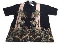 Pierre Cardin L Men's Hawaiian Rayon Sport Shirt Short Sleeve Large NEW NWT #PierreCardin #ButtonFront