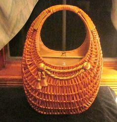 Vintage RODO White Wicker Handbag NWT | White Wicker, Wicker and ...