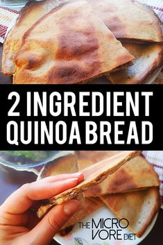 At last, at last, the Two Ingredient Quinoa Bread has been posted! Everytime I p… At last, at last, the Two Ingredient Quinoa Bread has been posted! Everytime I post a meal containing this golden brown seduction it steals aaalll the attentio Vegan Gluten Free, Gluten Free Recipes, Vegan Recipes, Flour Recipes, Potato Recipes, Pain Au Quinoa, Quinoa Pizza Crust, Crust Pizza, Vegan Bread