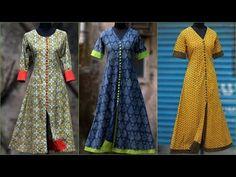 Front Cut Border Designer Kurti Cutting And Stitching - Tailoring With Usha - YouTube