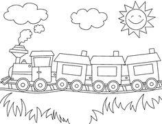 Malvorlage Eisenbahn Und Zubehör Malvorlagencr